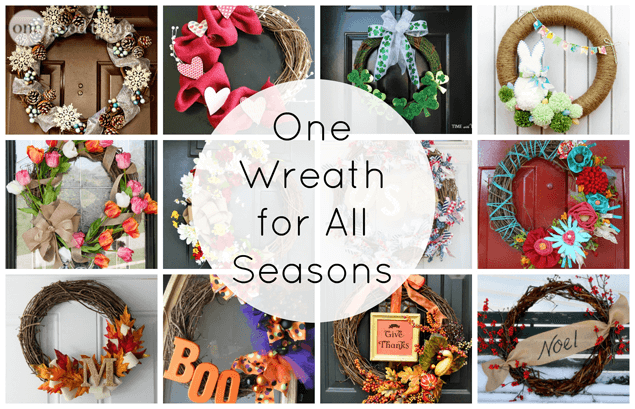 Make One Wreath For All Seasons · One Good Thing By Jillee