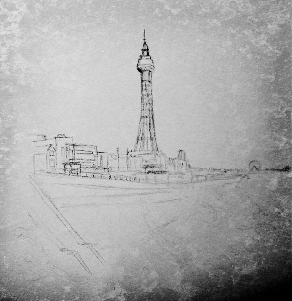 There's a famous seaside place called blackpool…drawing of Lancashire's own piece of France WIP