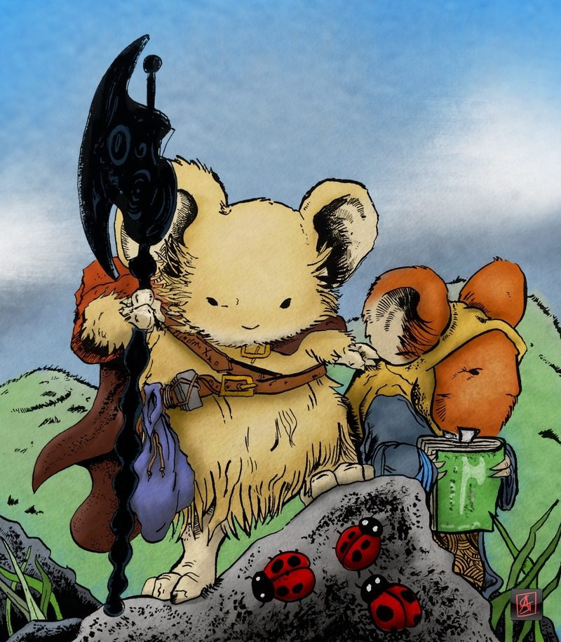 Mouse guard fan art painted