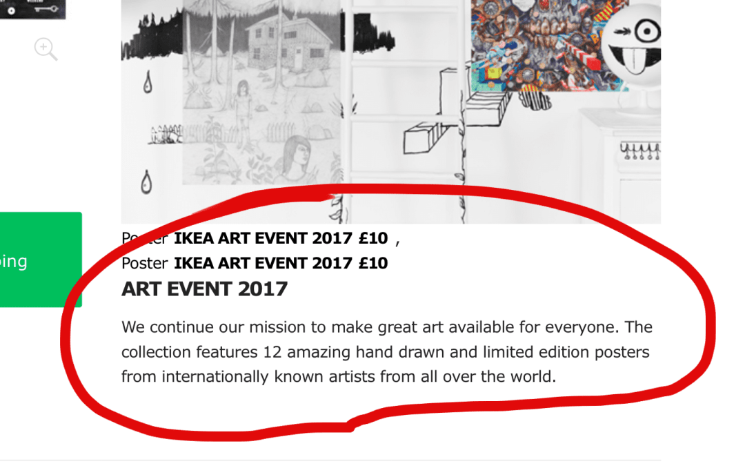 Making great art available for everyone: Ikea art event picture or art original for £12 more?