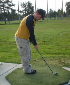 Playing Golf One Handed