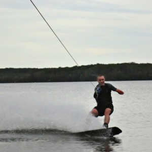 One Handed Wake Boarding