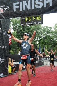 NYC Triathlon Finish