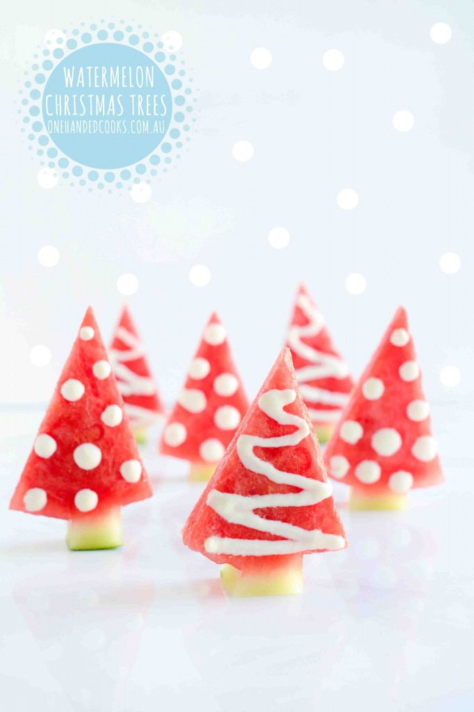 Watermelon Christmas Trees One Handed Cooks