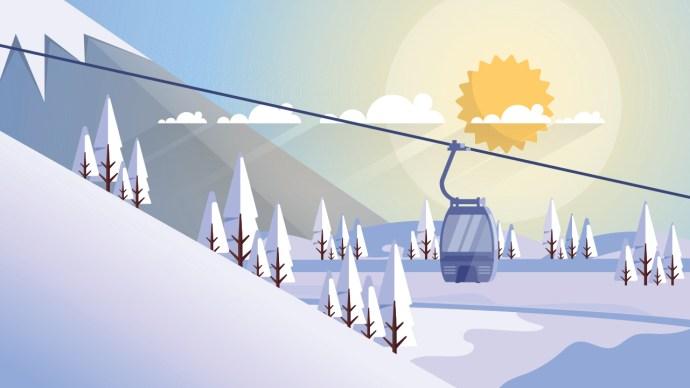 ski life, tram, ski resort