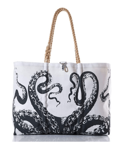 Recycled Sail Cloth Octopus Tote