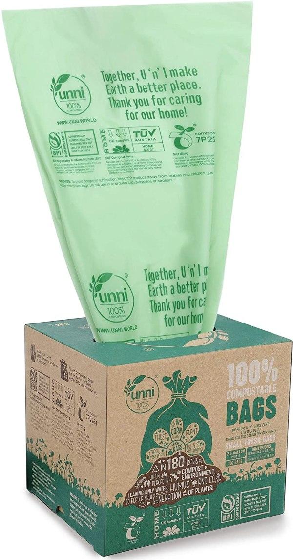 Unni Astm Compostable Trash Bags