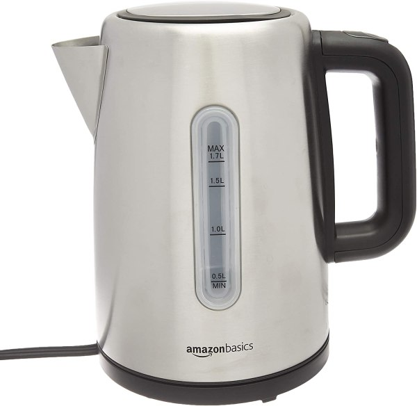 AmazonBasics Stainless Steel Fast Kettle 1.7L