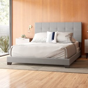 Nia+Upholstered+Panel+Bed