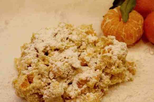 Mandrian orange scone dough