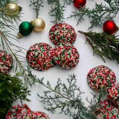 Surprise Inside Sprinkle Cookies