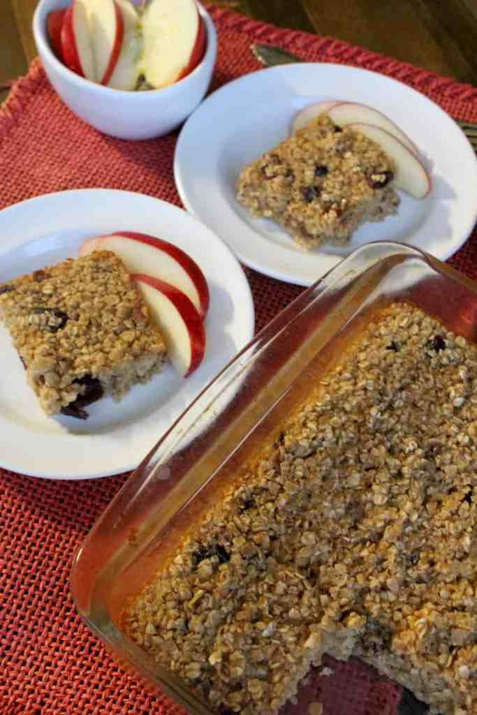 Plates of baked oatmeal