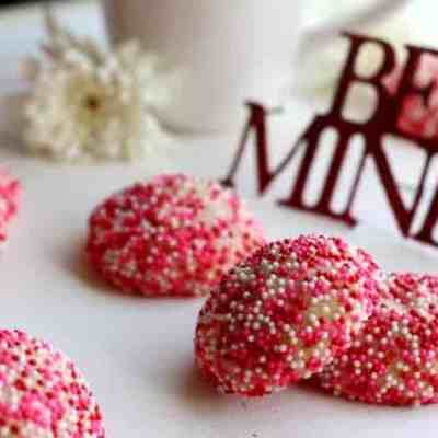 Red Velvet Surprise Inside Cookies