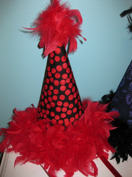 completed homemade party hats
