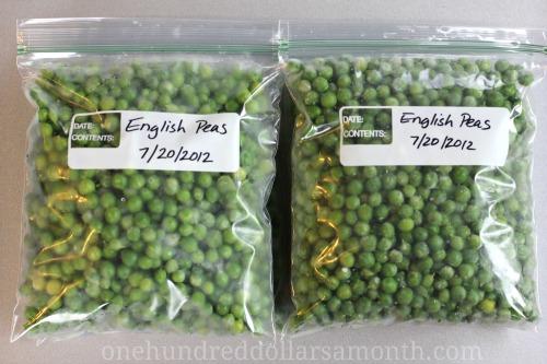how to freeze fresh peas