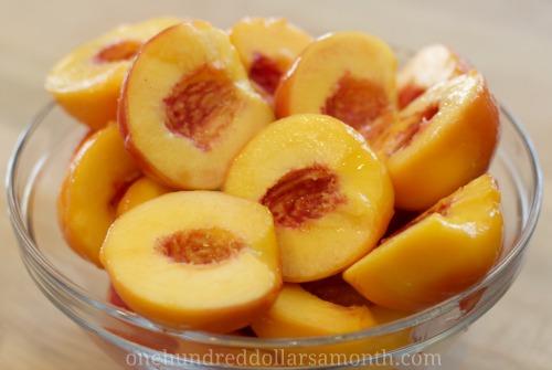peach halves