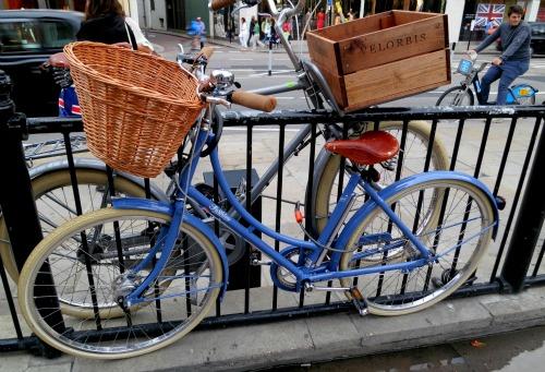old bike with wicker basket