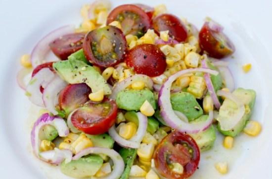 Easy Salad Recipes - Heirloom Tomato, Corn, and Avocado Salad