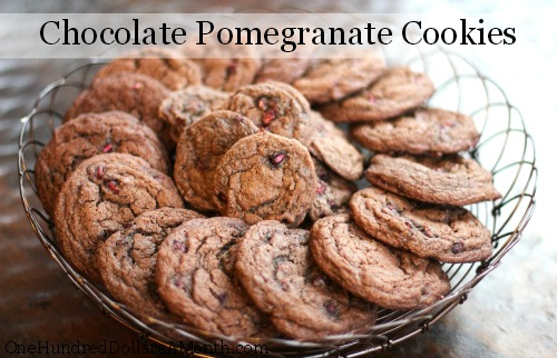 Chocolate Pomegranate Cookies recipe