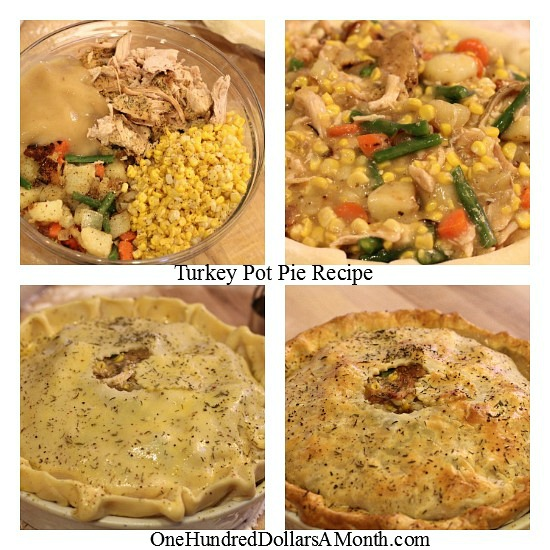 Thanksgiving leftovers turkey pot pie recipe one for What to make with leftover applesauce