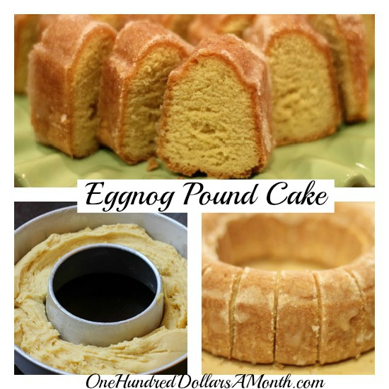 Christmas eggnog pound cake recipe
