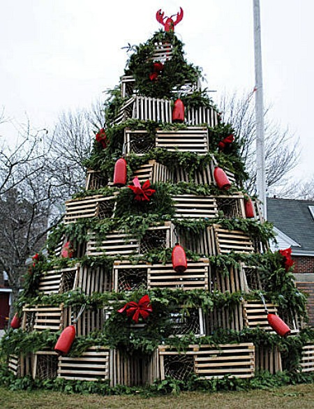 lobster traps unique christmas trees 1 - Unique Christmas Trees