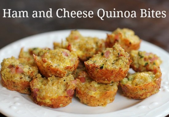 Ham and Cheese Quinoa Bites