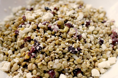 Lentil Salad with Olives and Feta