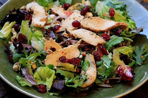Roasted Chicken Salad with Cranberries