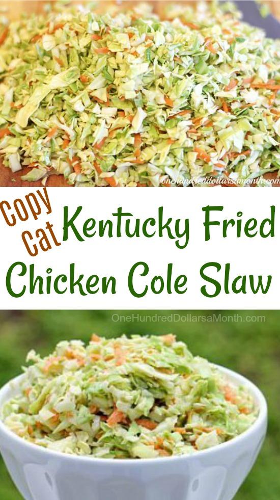 How to make kentucky fried chicken coleslaw recipe
