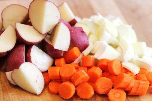 potatoes carrots onions
