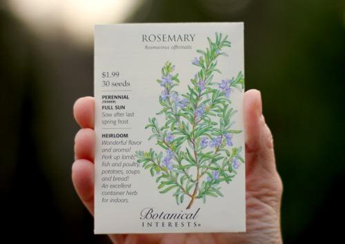 rosemary seed packet botanical interets