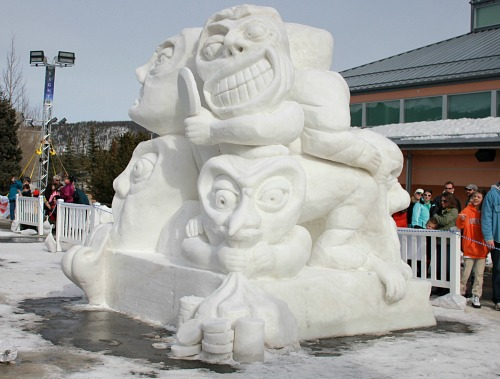 Snow sculpture colorado