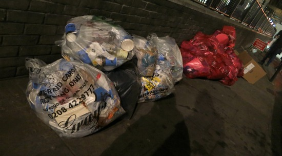 london trash in the street