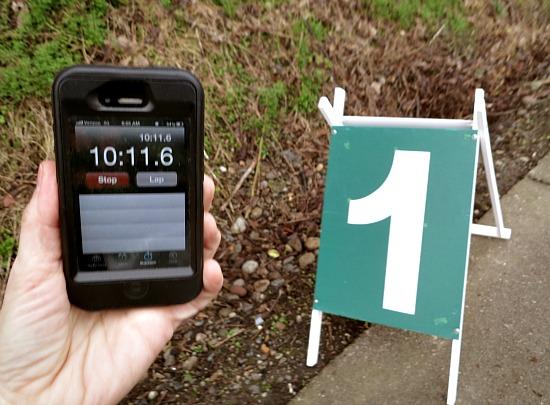 1 mile race marker