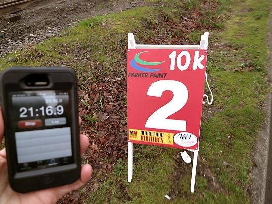 2 mile race marker