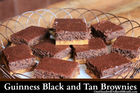 Guinness Black & Tan Brownies recipe yum
