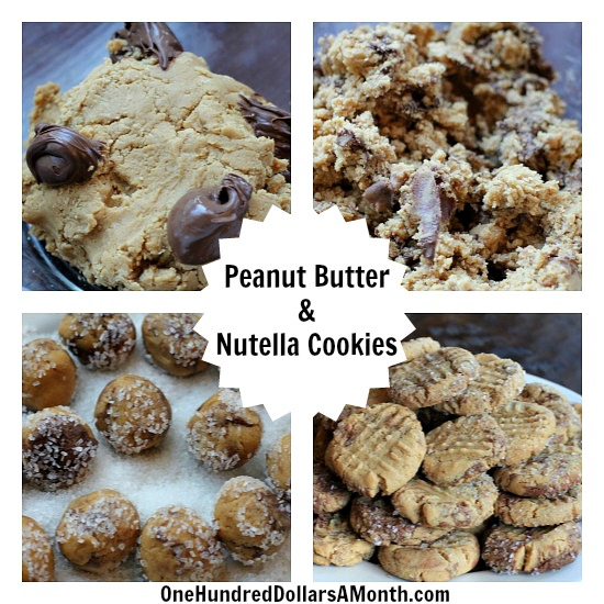 Peanut Butter & Nutella Cookies