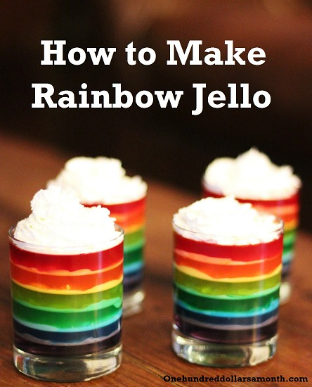 how to make rainbow jello