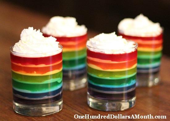 rainbow jello how to