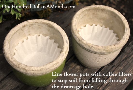 Easy Gardening Tips – Use Coffee Filters in Flower Pots