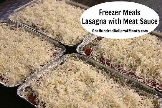 Freezer Meals - Lasagna with Meat Sauce 4