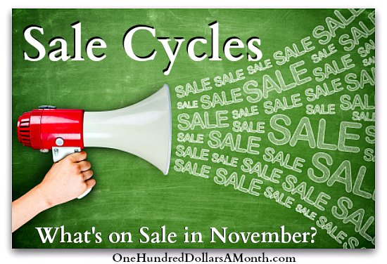 Sales Cycles - What's on Sale in November
