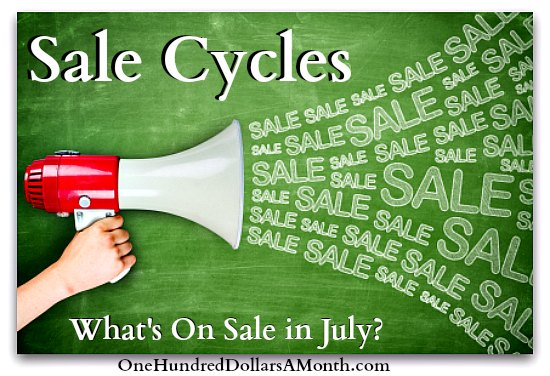 sale cycles what is on sale in july