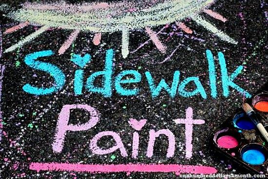 DIY Sidewalk paint for kids
