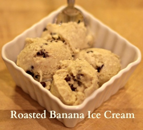 Roasted Banana Ice Cream