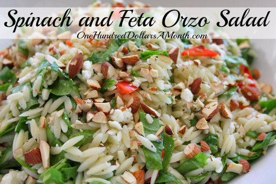 Spinach and Feta Orzo Salad
