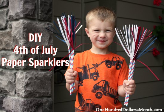 DIY  4th of July  Paper Sparklers