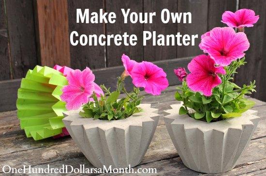 DIY How to Make a Concrete Planter