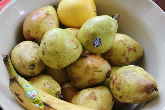 bruised pears